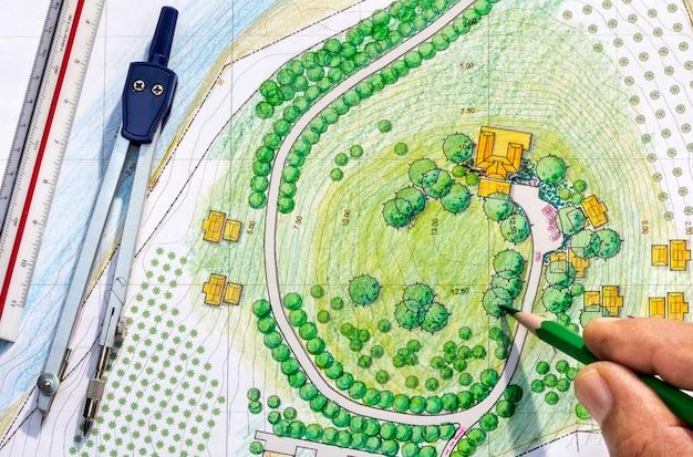 Landscape designs blueprints