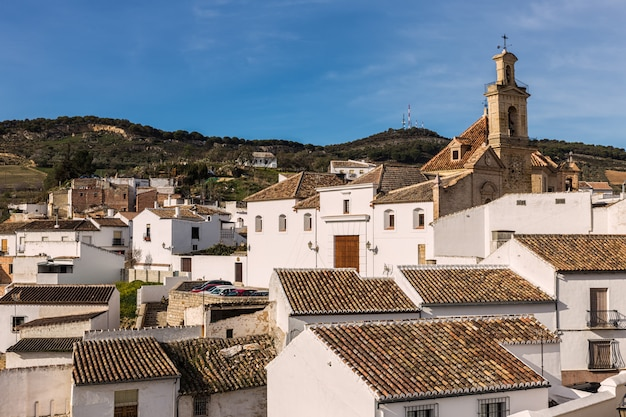 Landscape from the old town antequera. spain.
