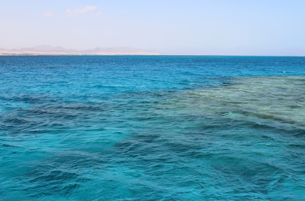 Landscape from the sea in egypt hurghada