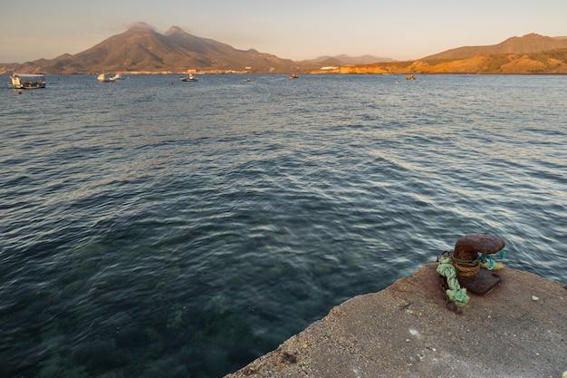 ライスレタデルモロの桟橋からの風景。カボデガタ自然公園。スペイン。