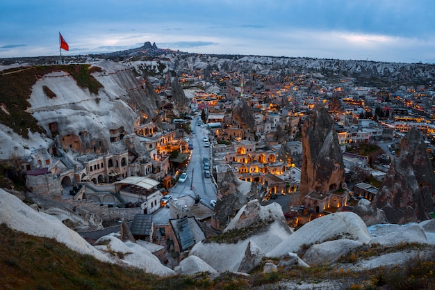 Landscape of goreme sunset view point