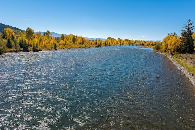 Landscape of grand teton national park