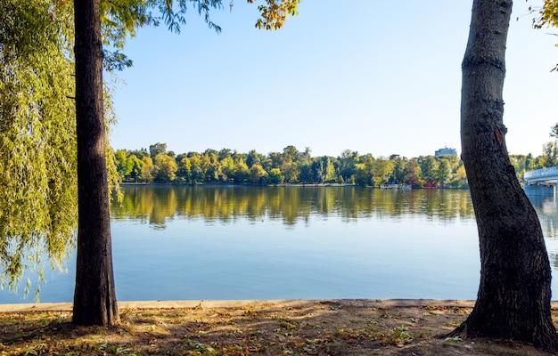 Landscape of herastrau lake
