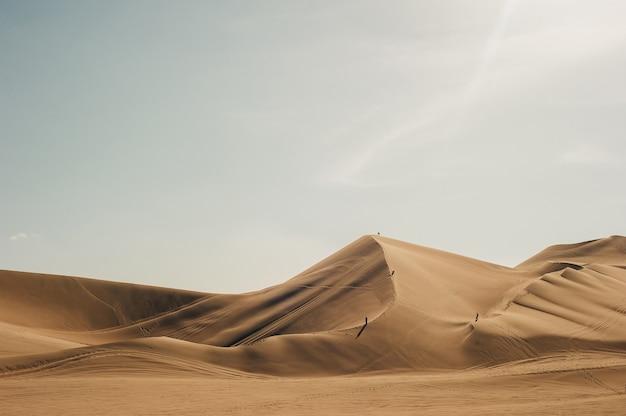 Landscape of huacachina desert. in ica, peru.