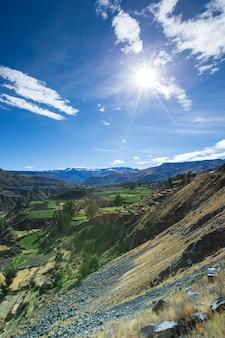 アンデスの風景。ペルー。