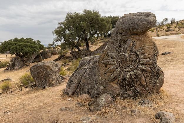 Plasencia 근처 valcorchero의 자연 지역에서 풍경. 익스트림 마두 라. 스페인.