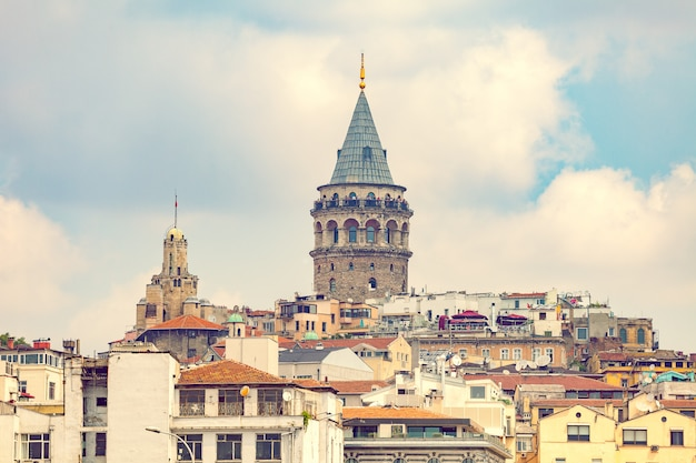 Landscape of istanbul and blue sky