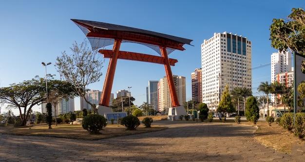 Landscape of the japanese garden of sao jose dos campos