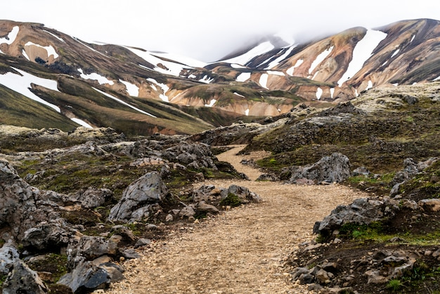 Landscape of landmannalaugar iceland highland