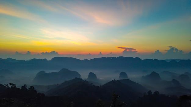 Landscape of layer khao thalu, tambon khao thalu, sawi district, chumphon, thailand