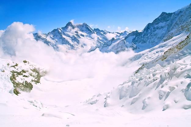 Landscape of mist at jungfraujoch