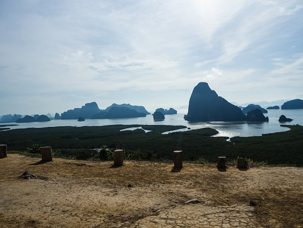 Landscape mountain and coast  thailand