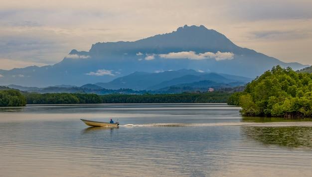 Landscape of mt kinabalu in sabah, borneo, malaysia