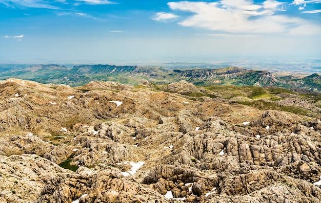 Landscape of nemrut dagi national park. unesco world heritage in turkey