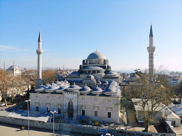 Пейзаж города стамбул в турции мечети