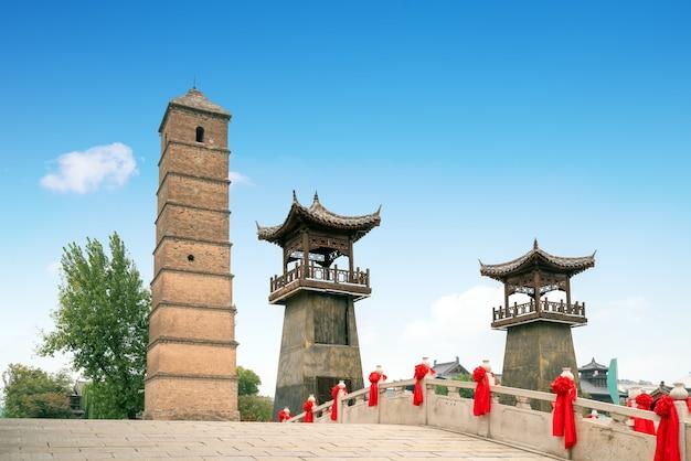중국 낙양 낙이 고대 도시의 풍경