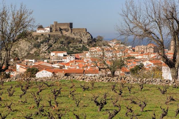 중세 성 extremadura spain이 있는 montanchez의 풍경
