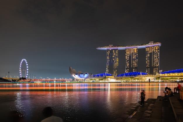Пейзаж города сингапур