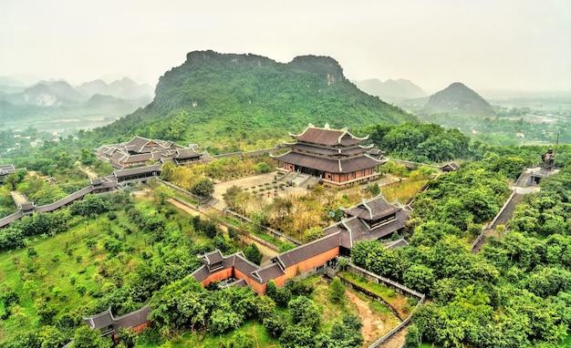 베트남 trang an 관광 지역의 bai dinh 사원 단지 풍경