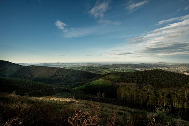 스페인 북부의 녹색 산의 풍경
