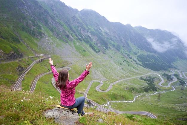 Transfagarasan 고속도로의 풍경