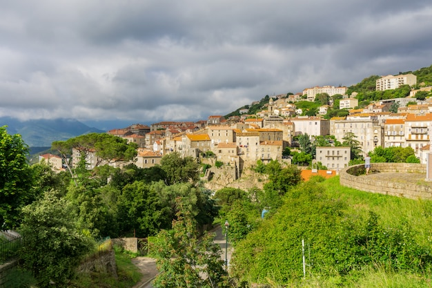 フランスのコルシカ島の風景