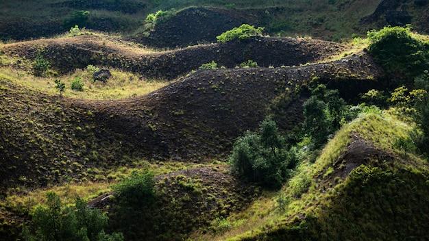 Пейзаж. на вулкане батур. бали. индонезия