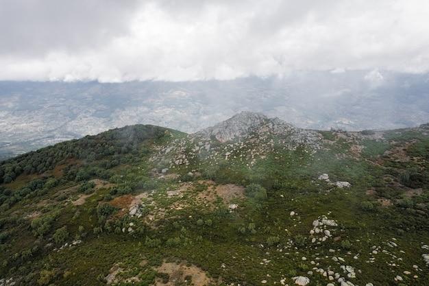 Landscape in pena negra near piornal extremadura spain