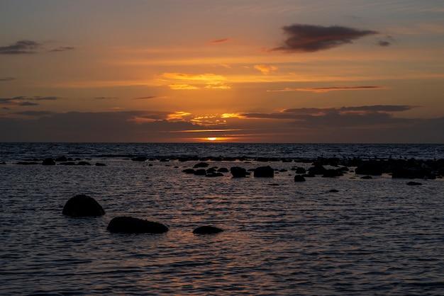 夕日の風景写真