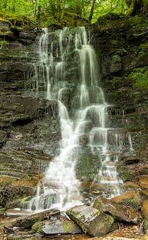 Пейзажная фотография водопада