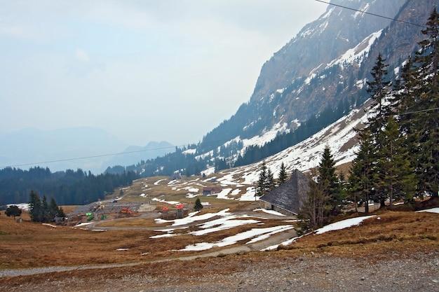 Landscape of pilatus mountain in lucern switzerland