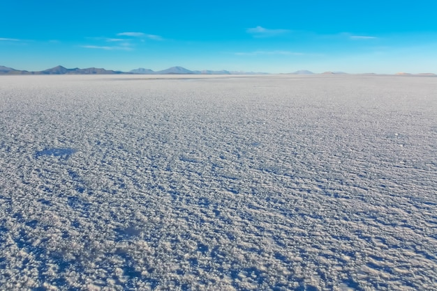 Landscape of salar de uyuni in bolivia covered with water