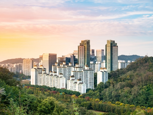 Landscape of seoul city