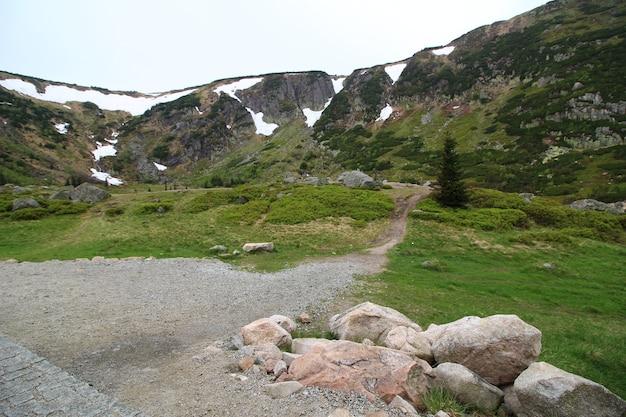 Landscape shot of karkonosze national park jelenia poland