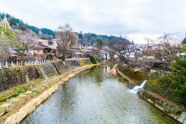 The landscape shot of the takayama town. it is named as little kyoto of japan and establish since edo era.