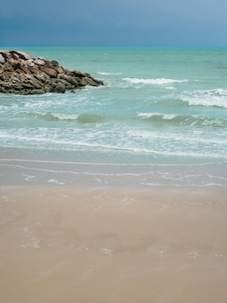 Landscape of summer beach relaxing seaside.