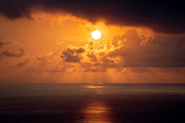 Landscape sunrise on hon chong cape