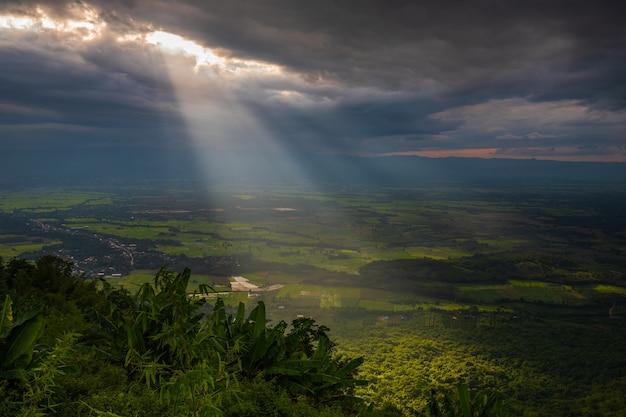 Landscape of tat mok national park, phetchaboon province, thailand.