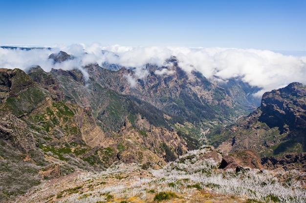 Landscape of trek pico do arieiro to pico ruivo, madeira island, portugal