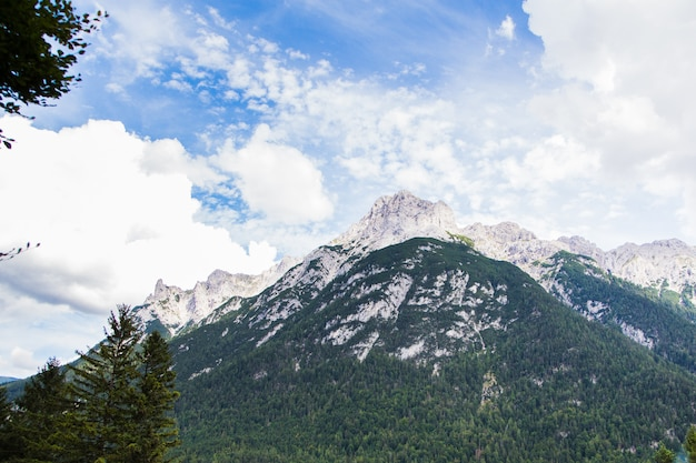 Landscape view bavarian alps, germany, europe
