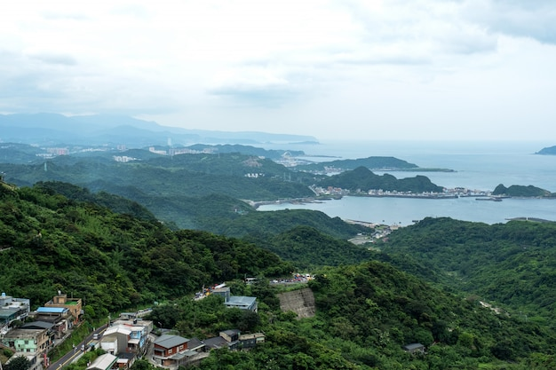 Landscape view from  jiufen, taipei, taiwan.