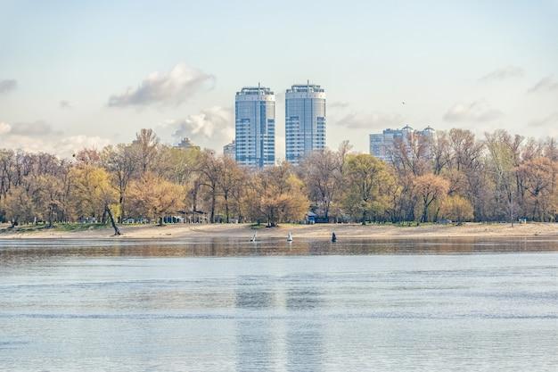 ウクライナ、キエフの家のある街の風景。