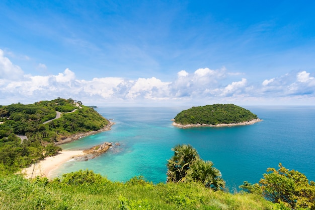 Landscape view of windmill viewpoint at phuket thailand