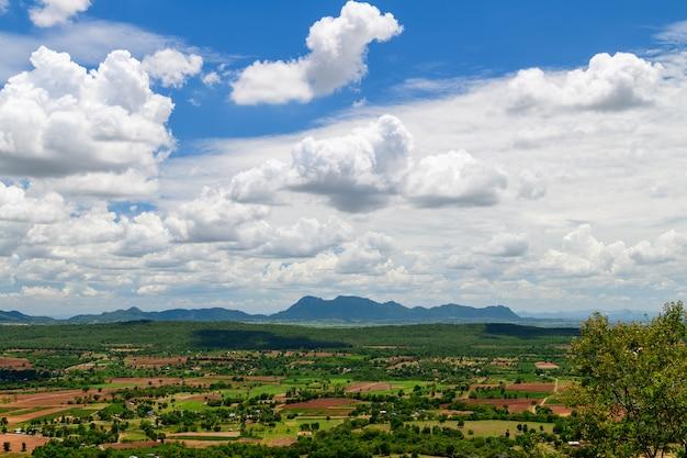 Landscape viewpoint at wat pa phu hai long in pak chong,