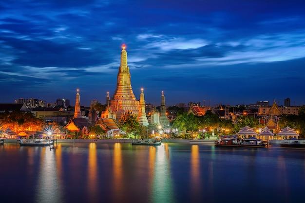 Landscape of wat arun and arun pagoda