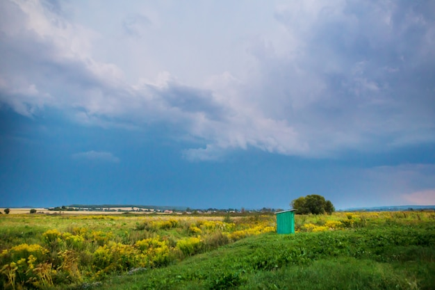 Landscape with cloudy day