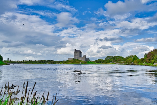 Landscape with dunguaire castle ireland.