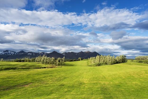 아이슬란드의 골프 코스와 풍경