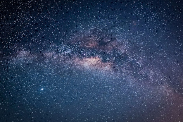 Landscape with milky way galaxy. night sky with stars.