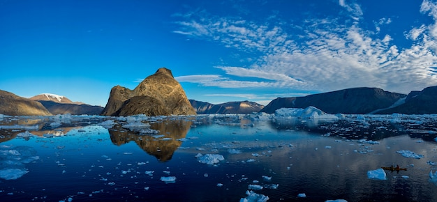 Landscape with rocks in greenland at summer time.